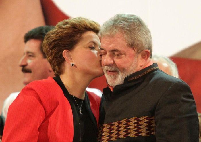 Dilma Rousseff e o ex-presidente Luiz Inácio Lula da Silva