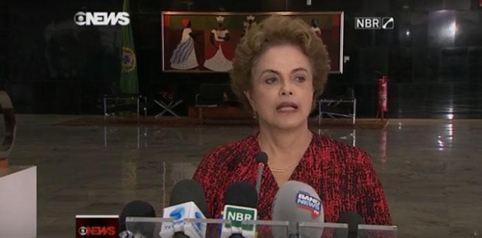 Dilma falou sobre a nomeação de Lula (Crédito: Reprodução)