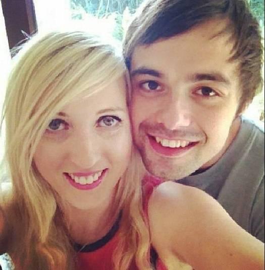 Rachel Gow e o namorado Anton