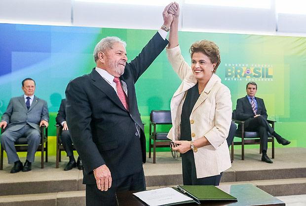 Dilma deu posse a Lula na Casa Civil  (Crédito: Agência Brasil )