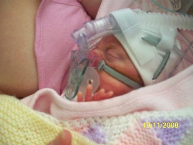 Scarlett nos primeiros dias de vida