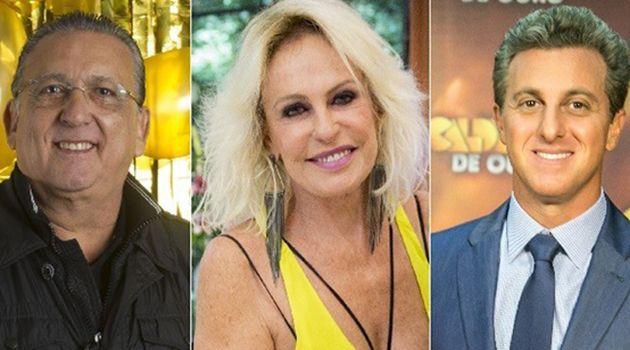 Galvão, Ana Maria Braga e Luciano Huck