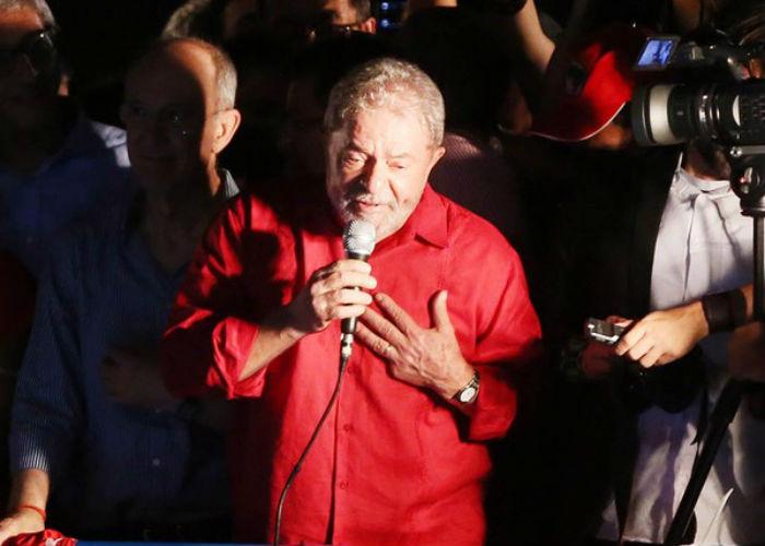 Lula fez discurso na Paulista (Crédito: Folhapress)
