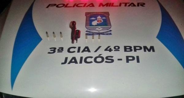 Arma apreendida com Orisvaldo José da Costa