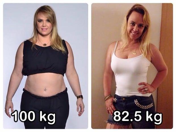 Ana Paula Almeida emagreceu quase 20 quilos (Crédito: Divulgação )