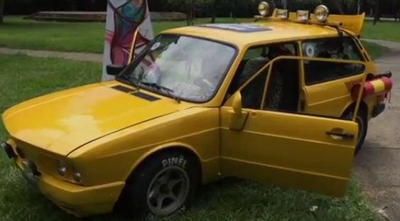 Brasília amarela na Praça Mamonas Assassinas (Foto: Fábio Tito) (Crédito: Reprodução)