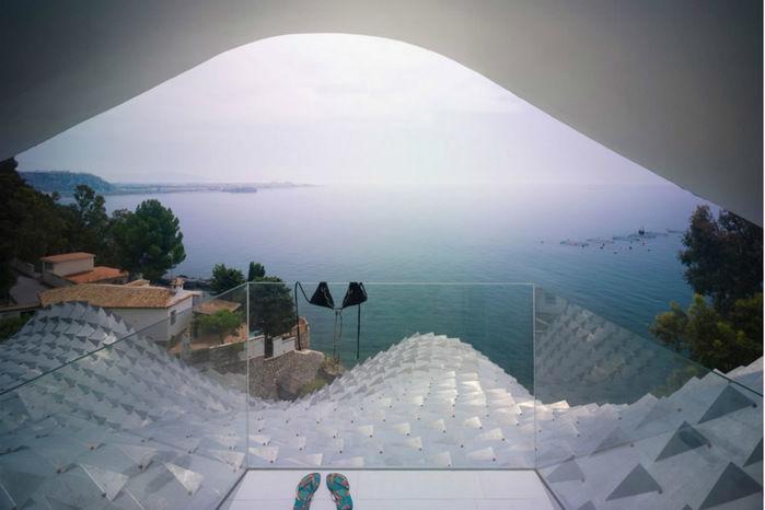 Vista para o mediterrâneo