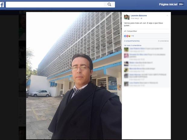Advogado foi morto dentro de seu escritório  (Crédito: Reprodução/ Facebook )