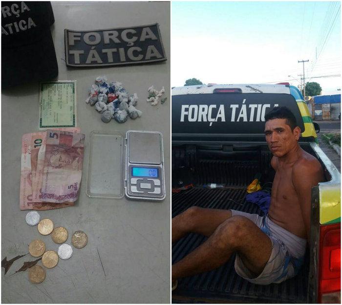 Homem acusado de tráfico de drogas é preso na zona Leste de THE (Crédito: Reprodução)