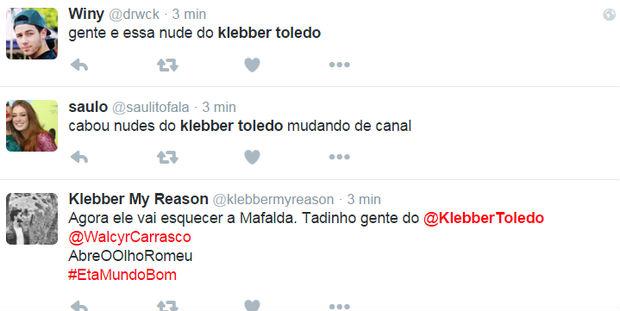 Klebber Toledo volta a ficar pelado e internuatas vão a loucura (Crédito: Reprodução)