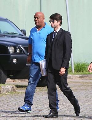 André Negão na sede da PF (Crédito: Estadão )