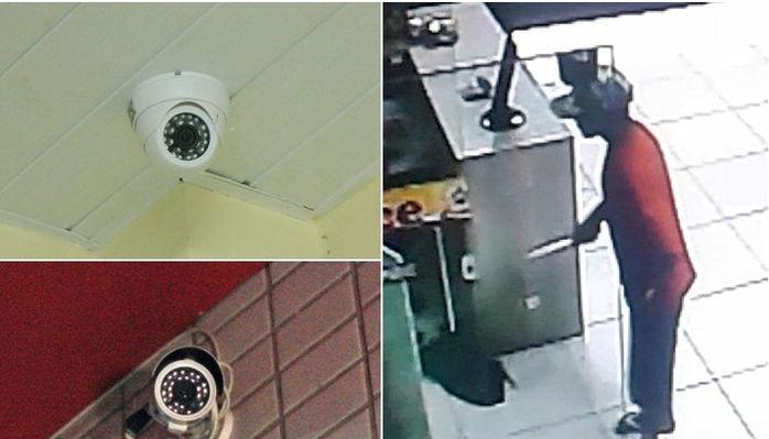 Câmeras de segurança flagraram tudo