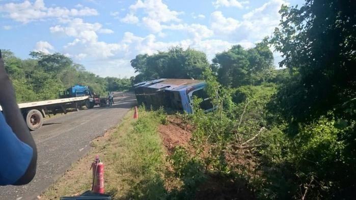 Ônibus da Guanabara envolvido no acidente em Bom Jesus