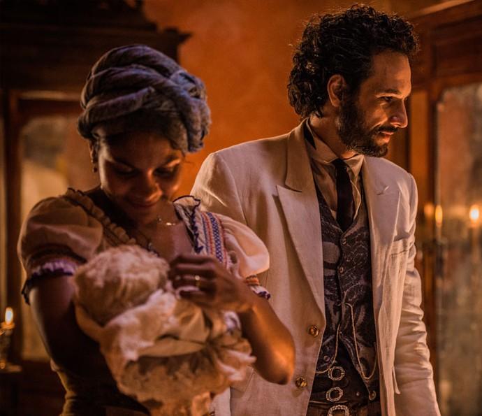 Risco de vida de Leonor enfurece Afrânio, que acusa Encarnação (Crédito: Reprodução)