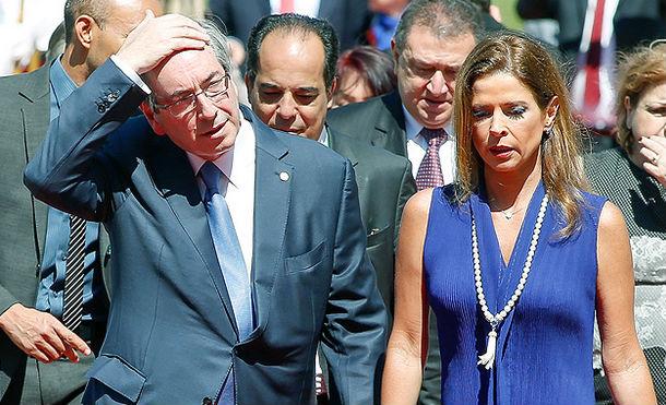 Eduardo Cunha e a esposa, Claudia Cruz