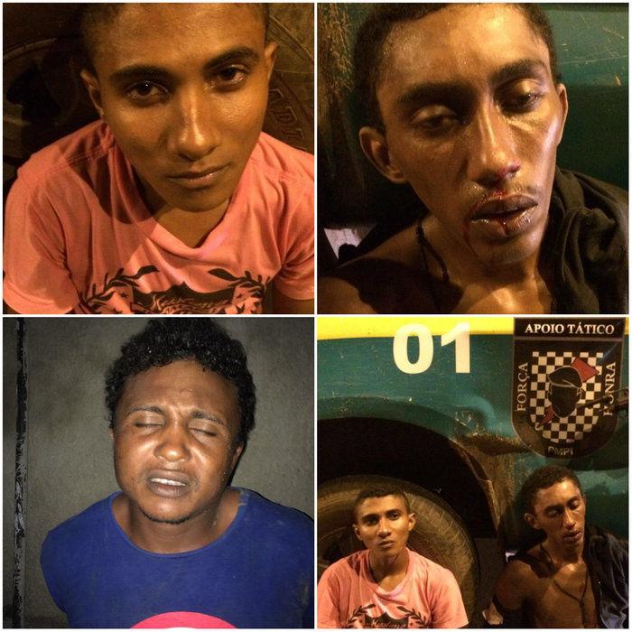Homens são presos acusados de praticar assaltos na z.Leste de THE (Crédito: Reprodução)