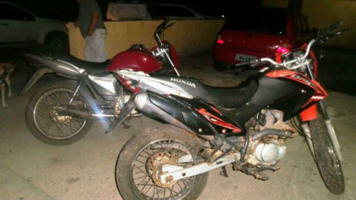 Motos roubadas foram recuperadas no Ceará