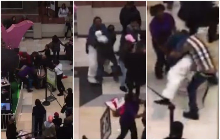 'Coelhinho da Páscoa' briga com cliente em shopping nos EUA (Crédito: Reprodução)