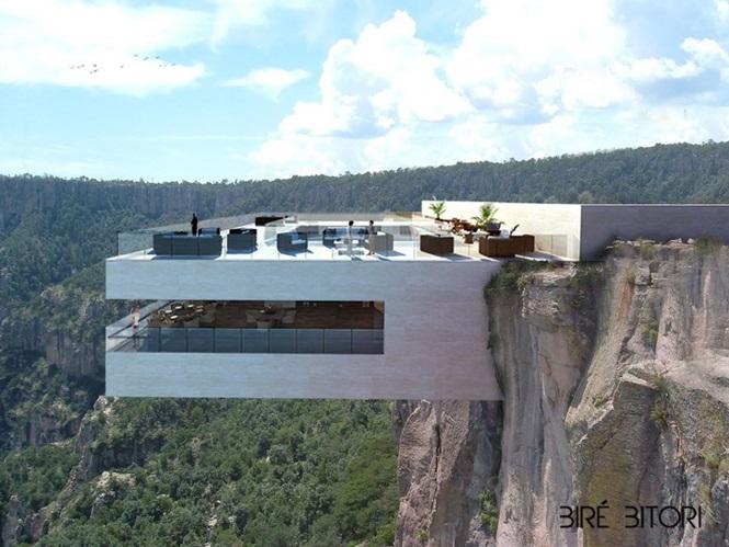 Restaurante em cima de penhasco