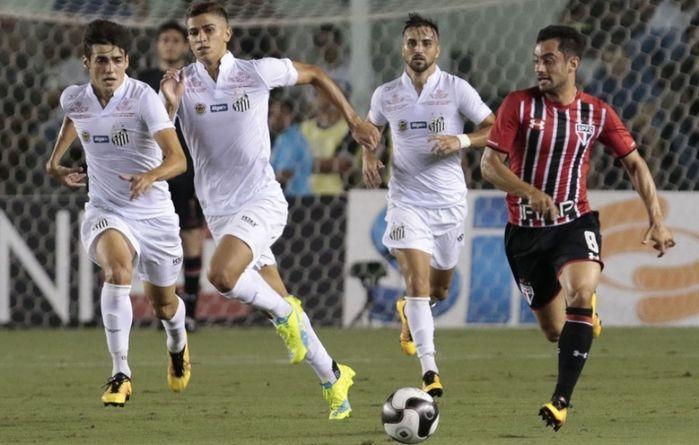 Santos e São Paulo ficaram no empate (Crédito: Lance)