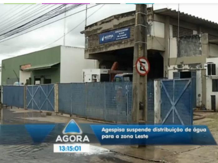Distribuição de água na zona leste de Teresina (Crédito: Reprodução TV Meio Norte )
