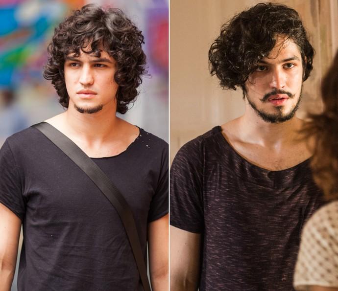 Gabriel Leone. O antes e o agora
