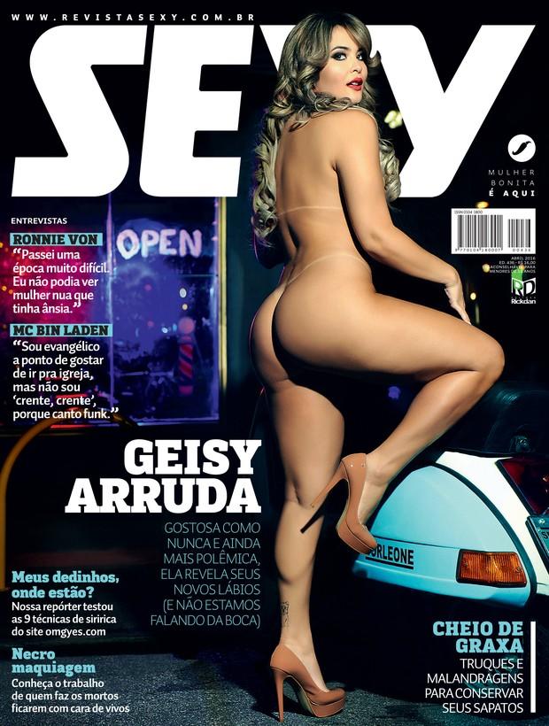 A revista Sexy, divulgou a capa com Geisy Arruda (Crédito: Reprodução)