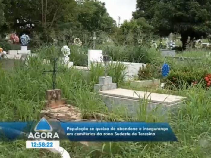 Cemitério em Teresina  (Crédito: Reprodução TV Meio Norte )
