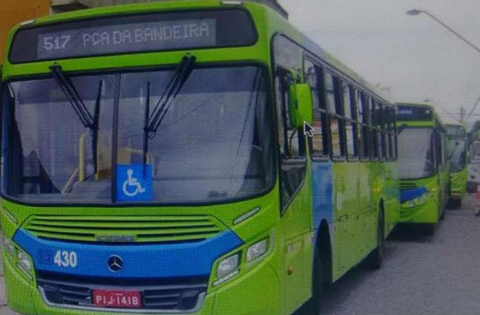 Ônibus colidiram no centro de Teresina