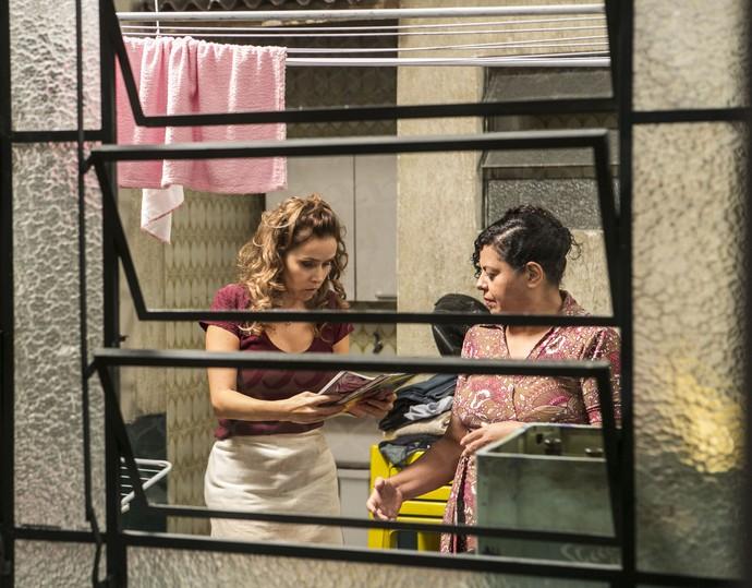 Gilda se despera e revela que Eliza é filha de Germano (Crédito: Reprodução)