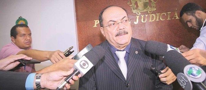 Presidente do TJ durante coletiva de imprensa  (Crédito: Efrém Ribeiro )