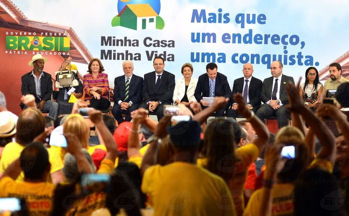 Dilma no lançamento do Minha Casa, Minha Vida (Crédito: Agência Brasil )
