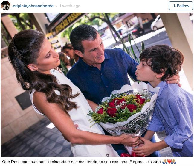 Foto publicada pelo ator após a cerimônia em BH (Crédito: Reprodução)