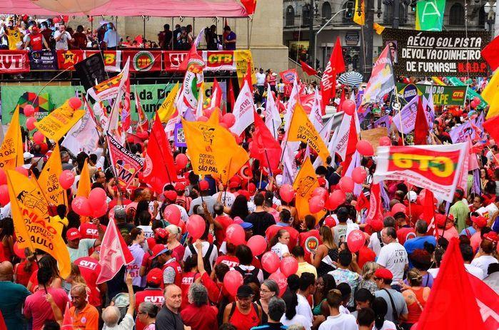 Manifestação de apoio à Dilma