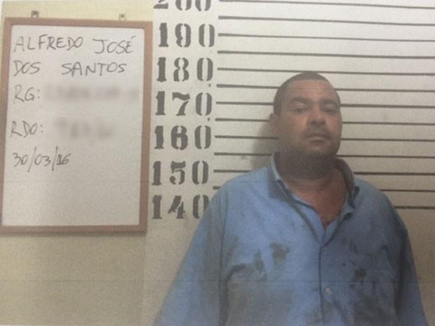 Alfredo foi preso após tentar incendiar uma juíza