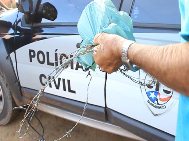 Cerca de arame que vitimou as crianças em Bacabal (Crédito:  Valdo Lima/G1-MA)