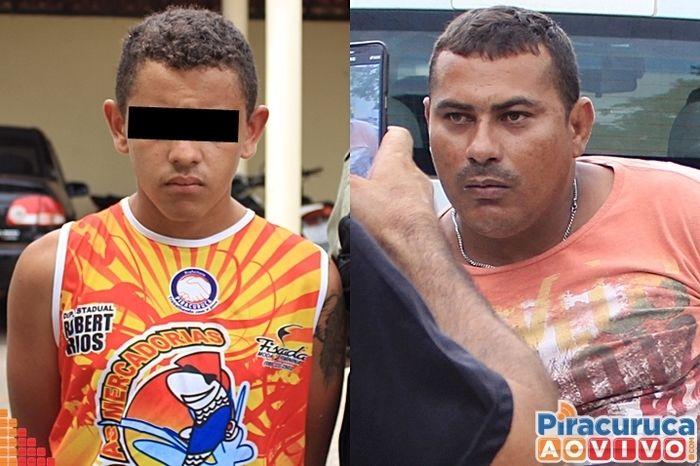 O menor foi apreendido e Claudemir preso acusados de assaltos