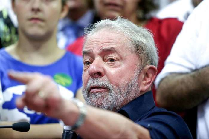 Ex-presidente Lula durante ato do PT