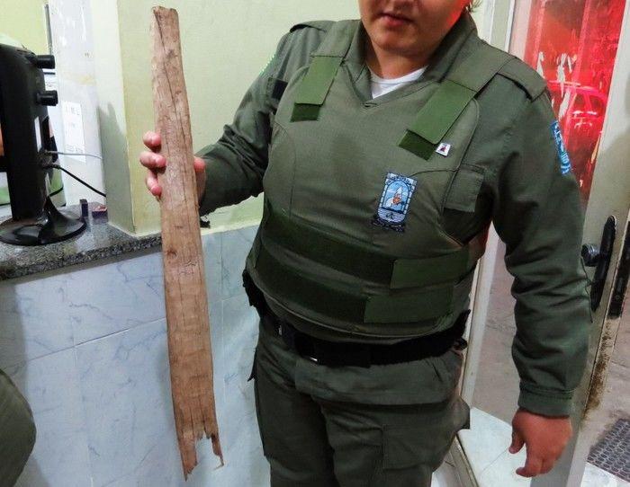 Material usado na agressão (Crédito: Portal Costa Norte )