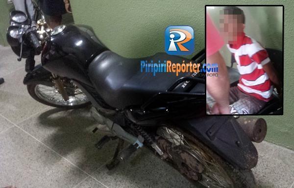 Moto foi encontrada escondido em mata