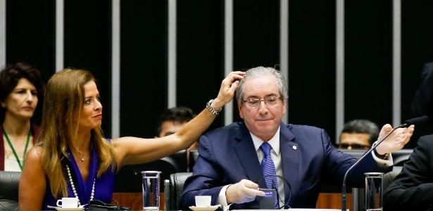 Eduardo Cunha e sua esposa (Crédito: Divulgação)