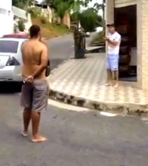 Mulher filma o assassinato do marido pelo rival durante briga, em Minas Gerais (Crédito: Reprodução)