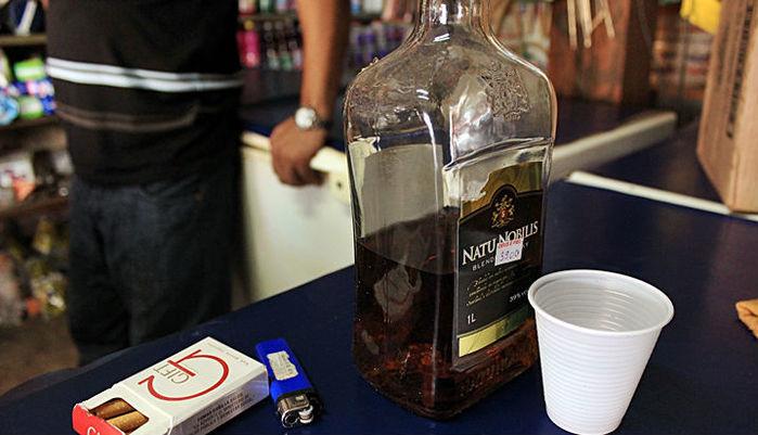 Bebida usada pelos menores
