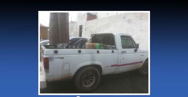 Veículo usado pelo trio de assaltantes