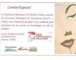 Secretaria de Assistência Social homenageia mulheres elesbonenses