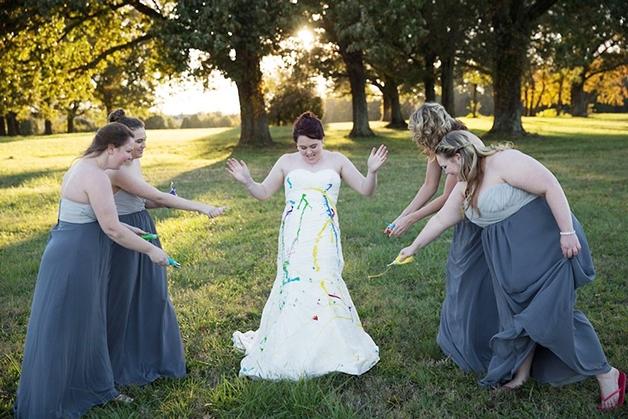 Ensaio fotográfico com noiva abandonada (Crédito: Reprodução)