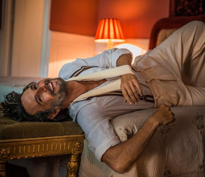 Rodrigo Santoro  atuando em Velho Chico (Crédito: Divulgação Gshow)