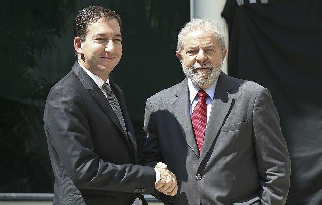 Luiz Inácio Lula da Silva e Glenn Greenwald