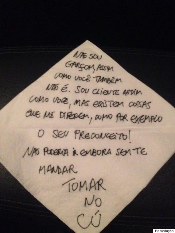 Bilhete deixado por Luis Miranda (Crédito: Reprodução)