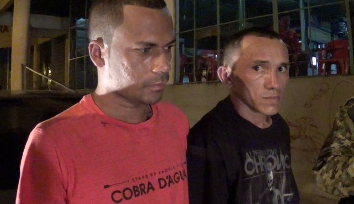 Dupla acusada de assalto (Crédito: Reprodução/TV Meio Norte)
